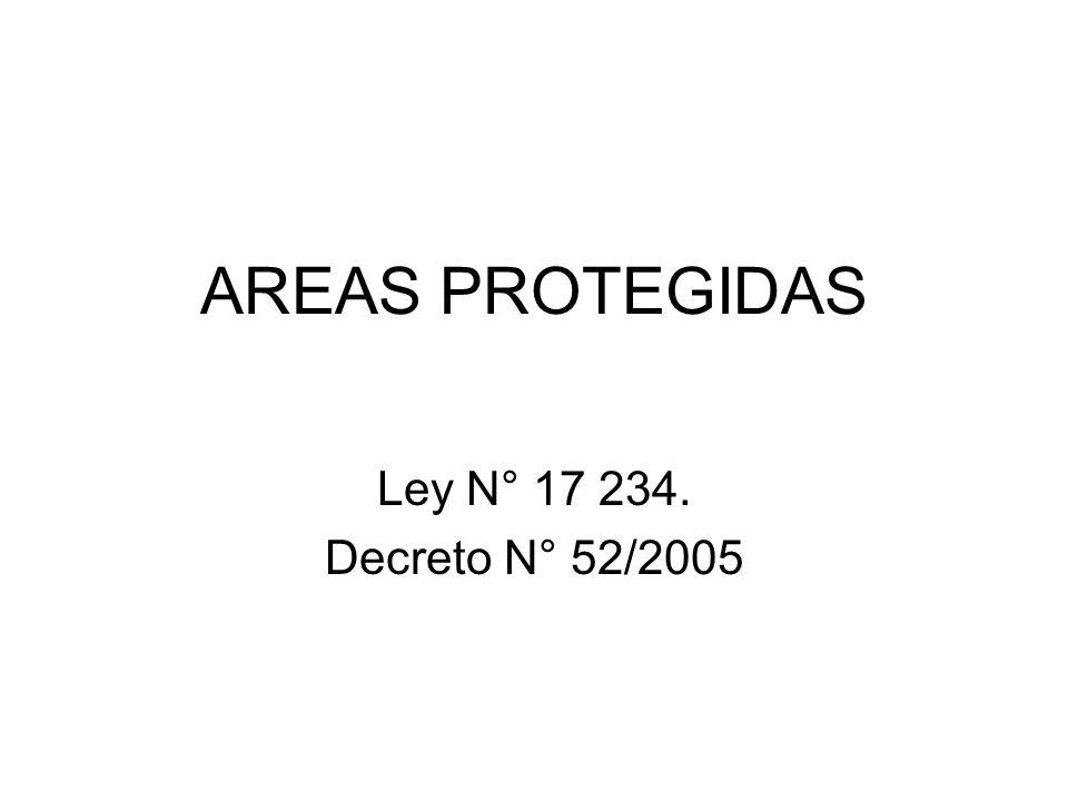 AREAS PROTEGIDAS Ley N° 17 234. Decreto N° 52/2005