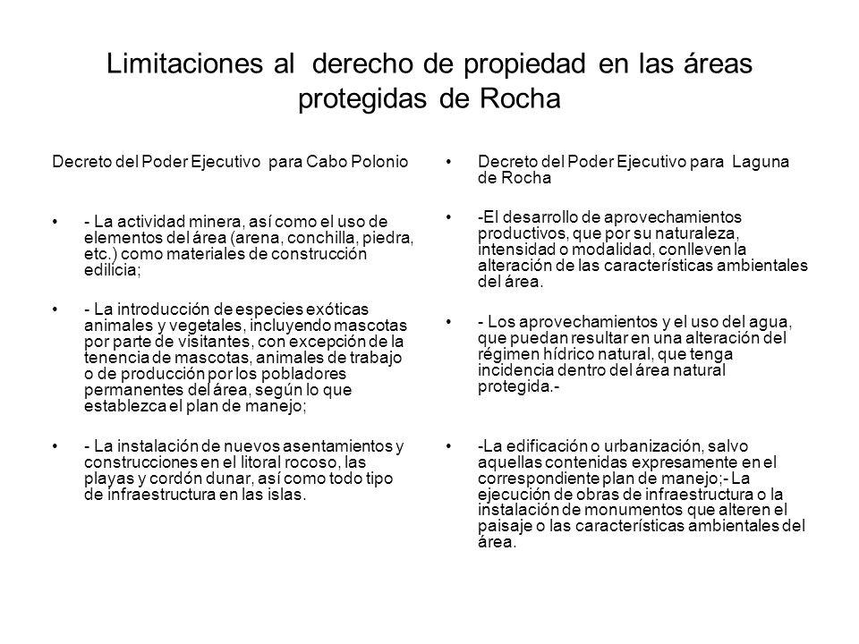 Limitaciones al derecho de propiedad en las áreas protegidas de Rocha