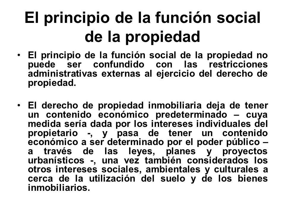 El principio de la función social de la propiedad