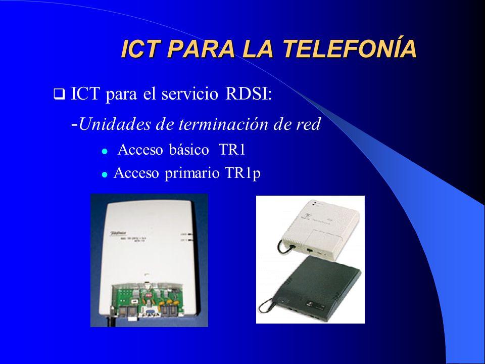 ICT PARA LA TELEFONÍA -Unidades de terminación de red