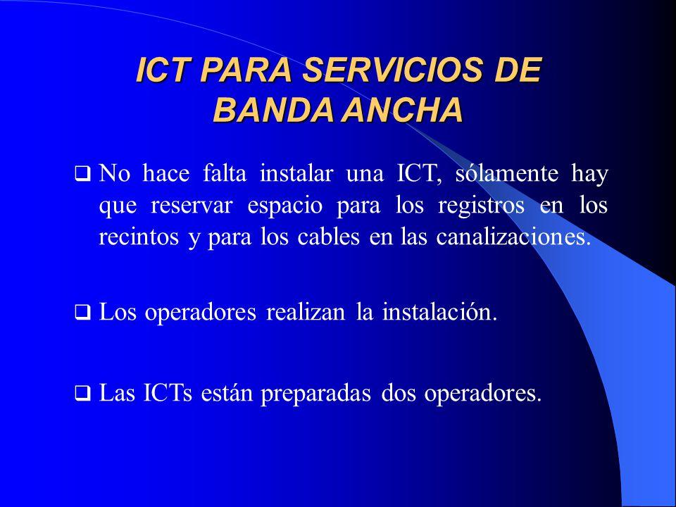 ICT PARA SERVICIOS DE BANDA ANCHA