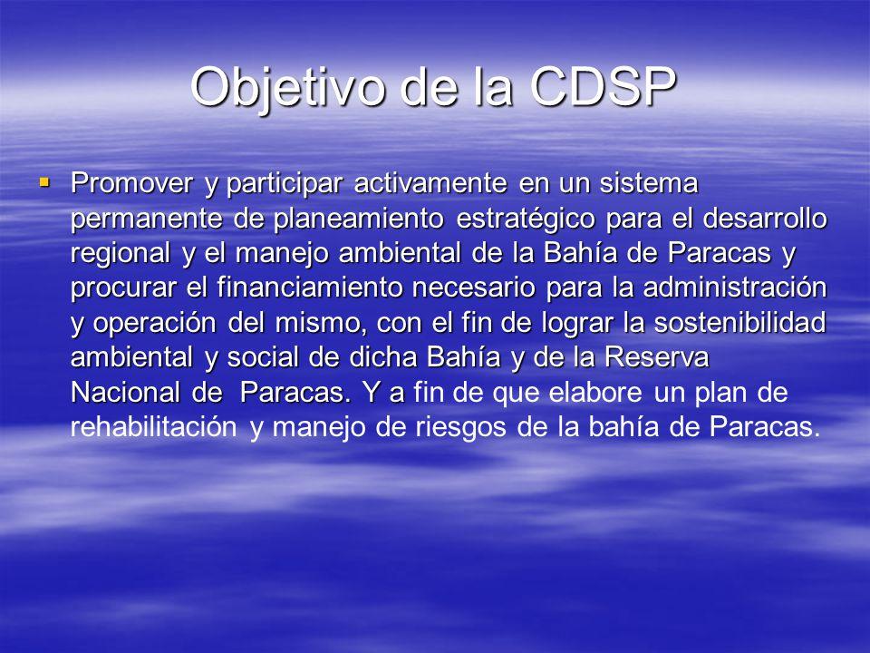 Objetivo de la CDSP