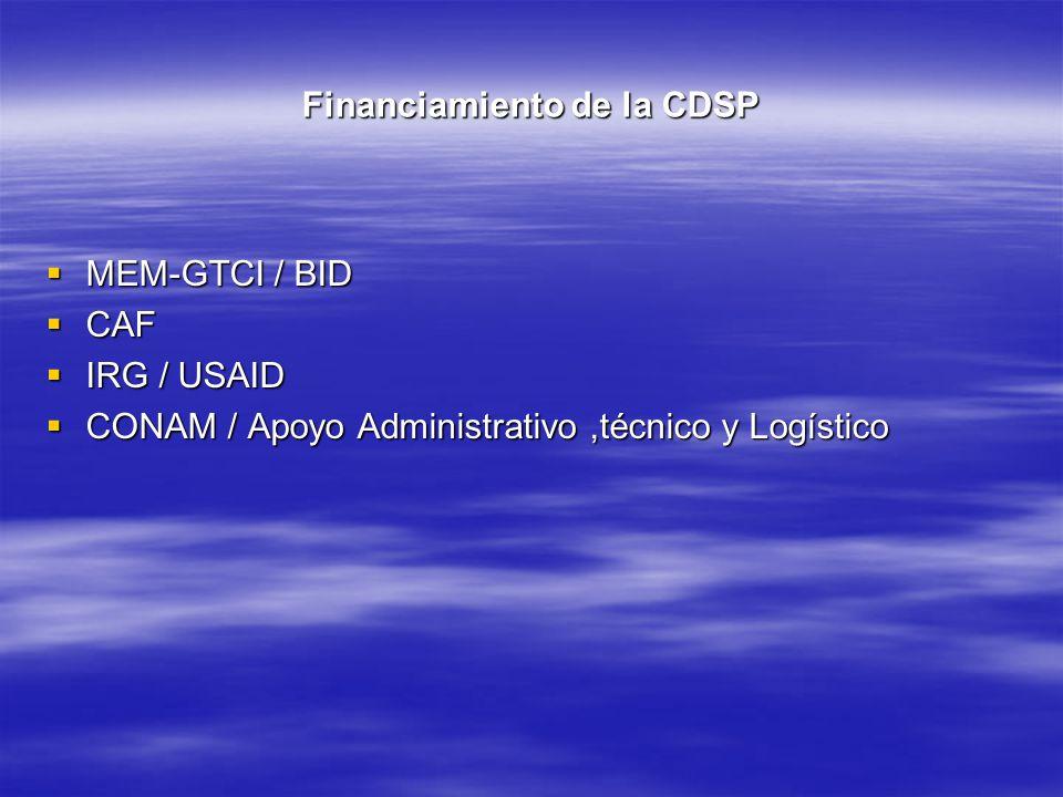 Financiamiento de la CDSP