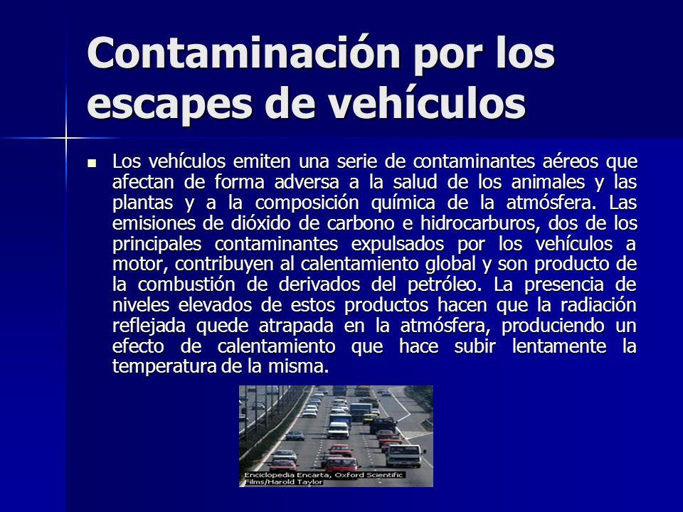 Contaminación por los escapes de vehículos