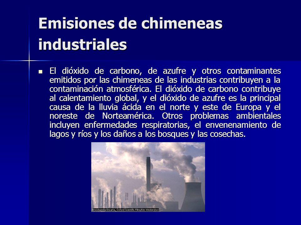 Emisiones de chimeneas industriales