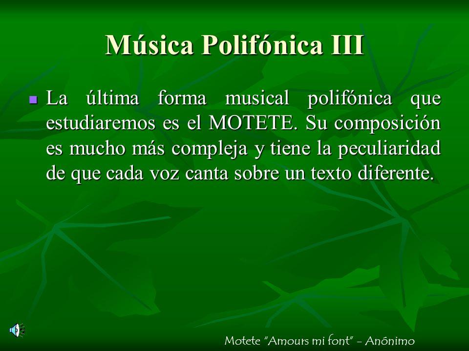 Música Polifónica III