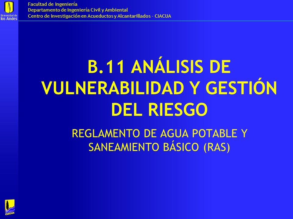 B.11 ANÁLISIS DE VULNERABILIDAD Y GESTIÓN DEL RIESGO