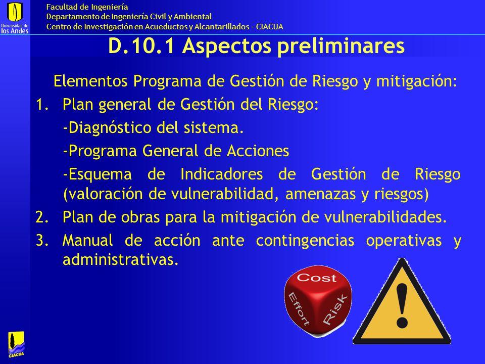 D.10.1 Aspectos preliminares