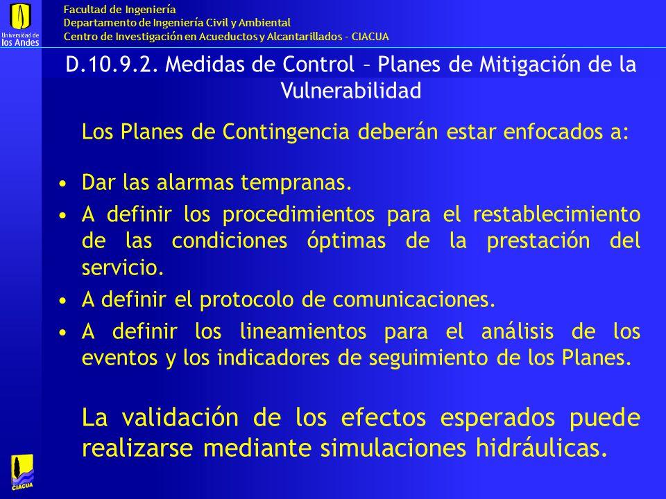 D.10.9.2. Medidas de Control – Planes de Mitigación de la Vulnerabilidad