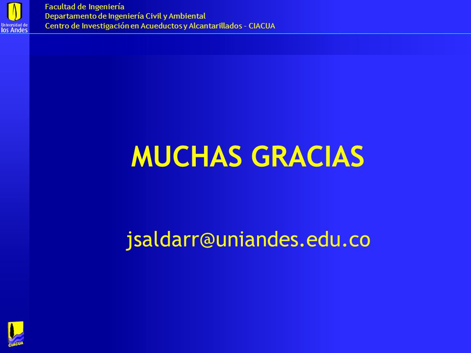 Muchas gracias jsaldarr@uniandes.edu.co