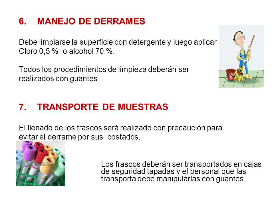 7. TRANSPORTE DE MUESTRAS