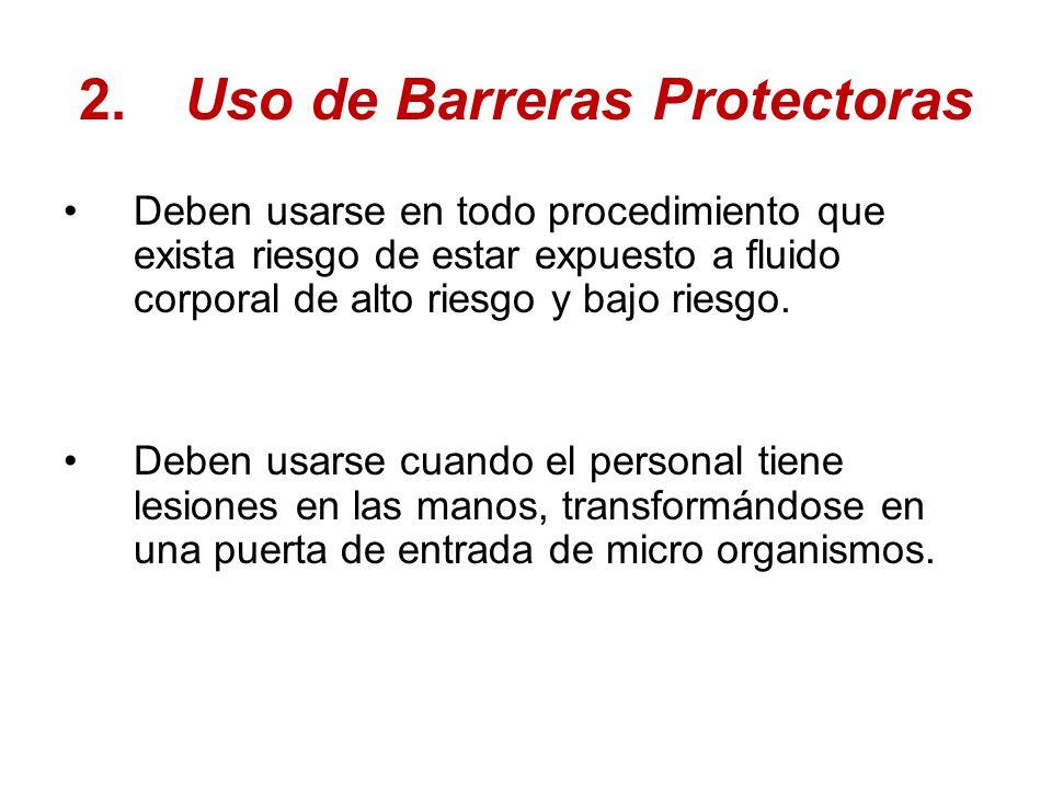 2. Uso de Barreras Protectoras