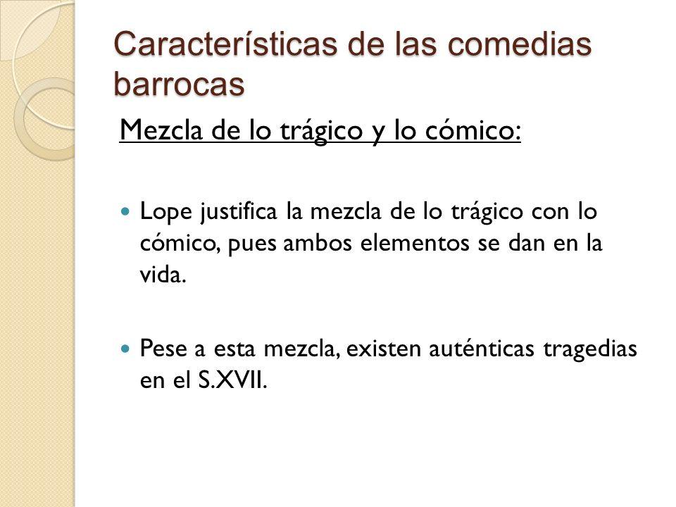 Características de las comedias barrocas