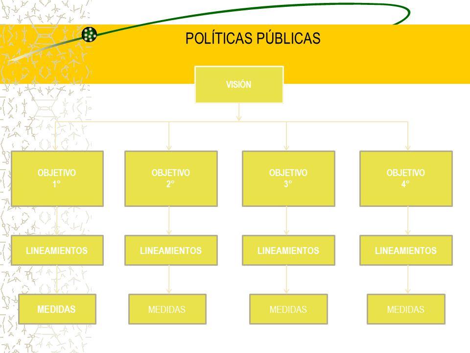 POLÍTICAS PÚBLICAS MEDIDAS LINEAMIENTOS LINEAMIENTOS LINEAMIENTOS