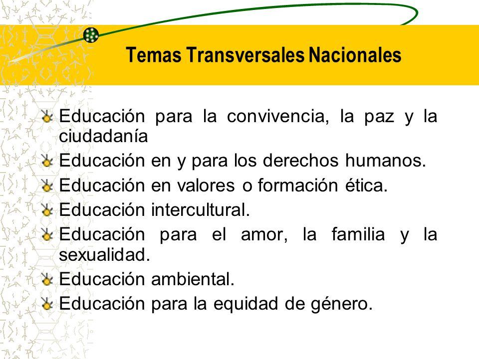 Temas Transversales Nacionales