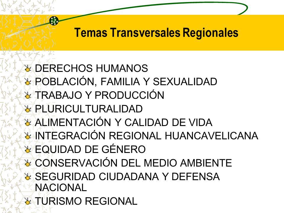 Temas Transversales Regionales