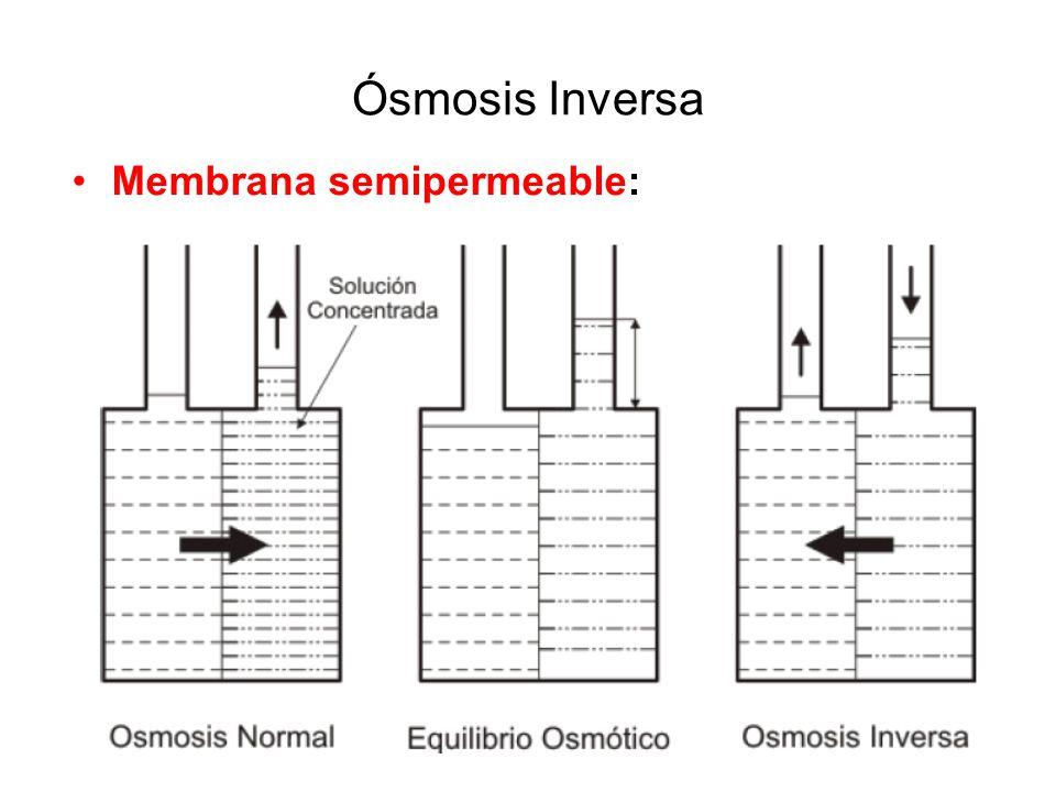 Ósmosis Inversa Membrana semipermeable: