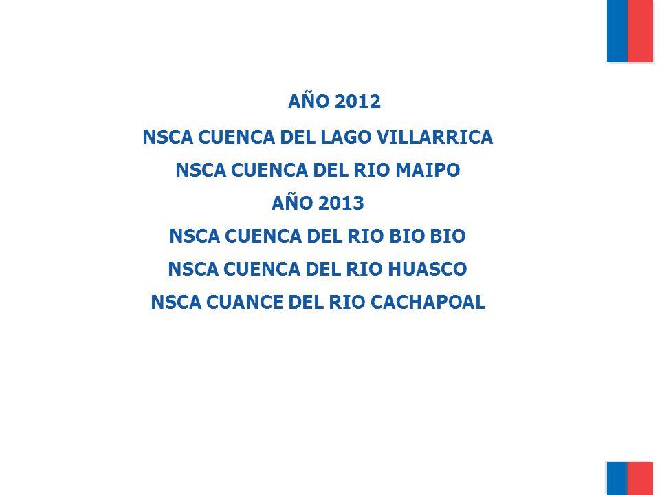 AÑO 2012 NSCA CUENCA DEL LAGO VILLARRICA NSCA CUENCA DEL RIO MAIPO
