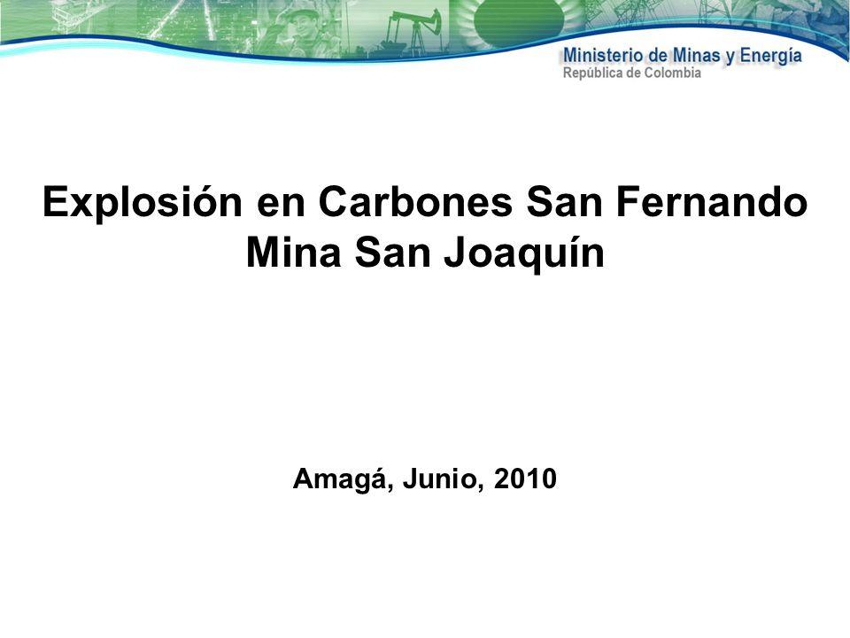 Explosión en Carbones San Fernando Mina San Joaquín