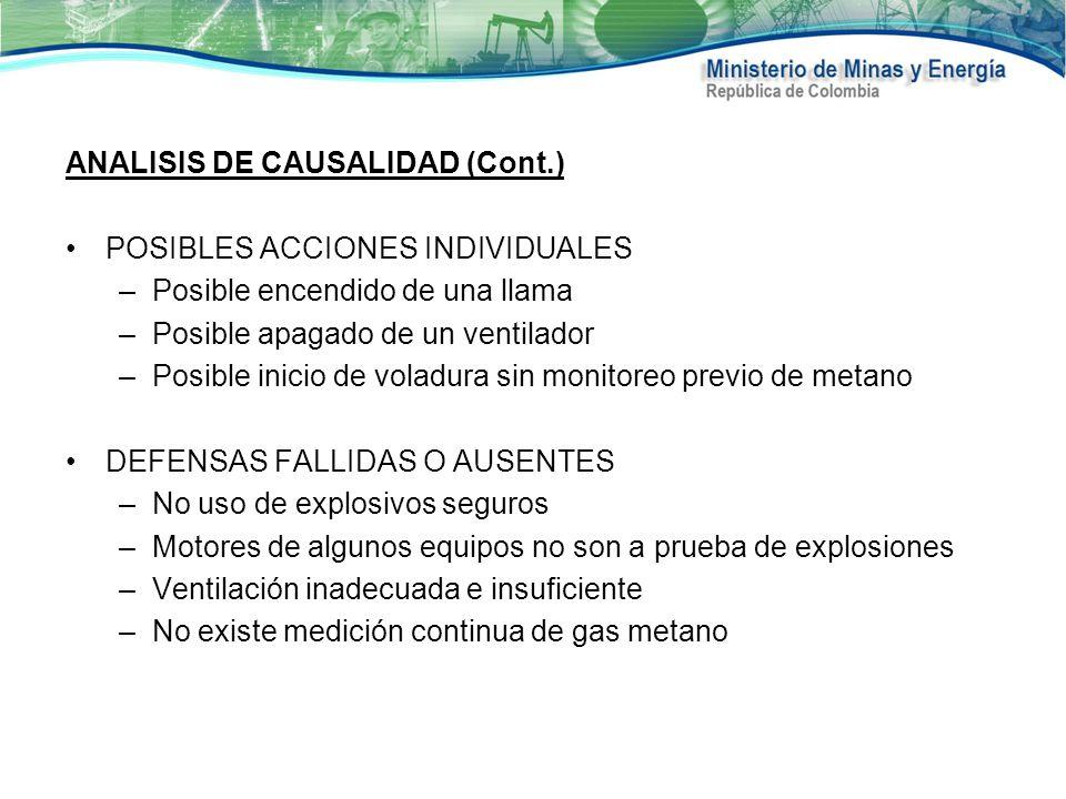 ANALISIS DE CAUSALIDAD (Cont.)