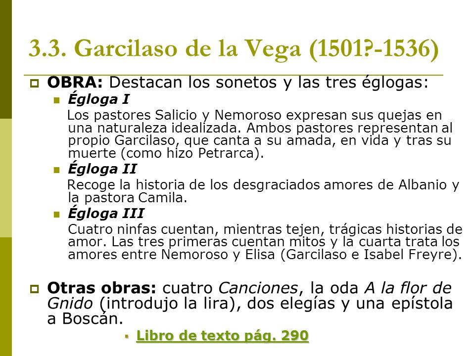 3.3. Garcilaso de la Vega (1501 -1536)