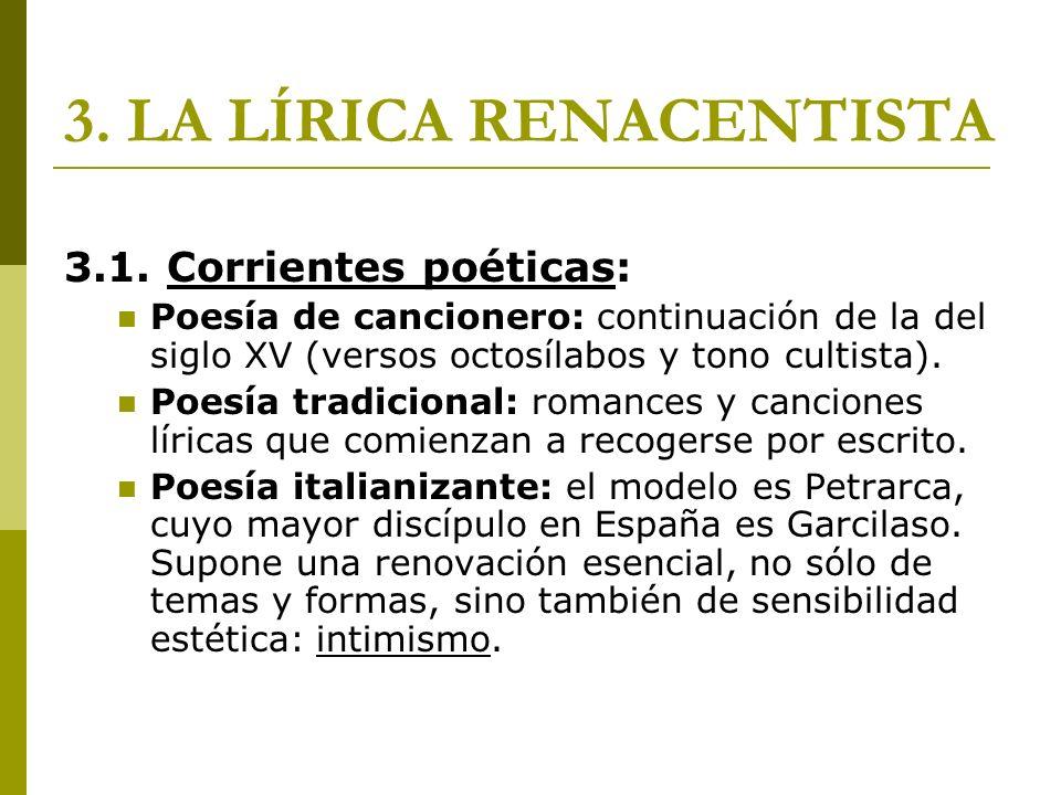 3. LA LÍRICA RENACENTISTA