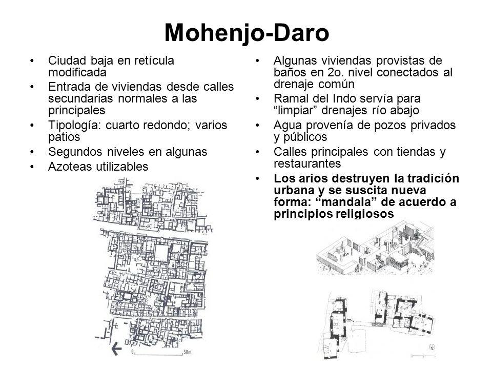 Mohenjo-Daro Ciudad baja en retícula modificada