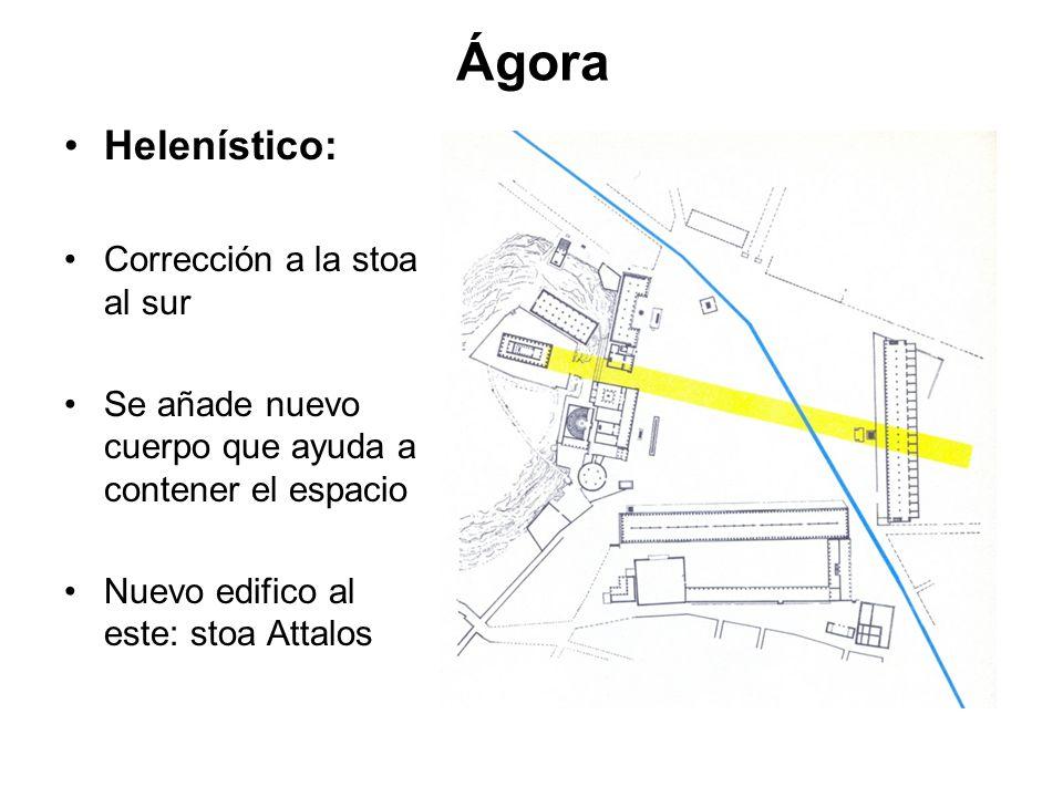 Ágora Helenístico: Corrección a la stoa al sur