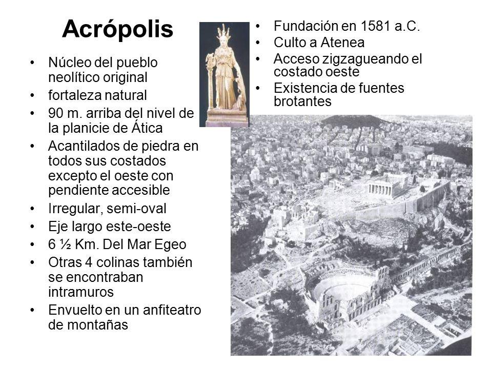 Acrópolis Fundación en 1581 a.C. Culto a Atenea