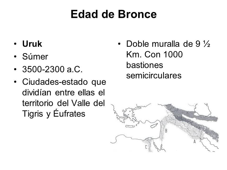 Edad de Bronce Uruk Súmer 3500-2300 a.C.