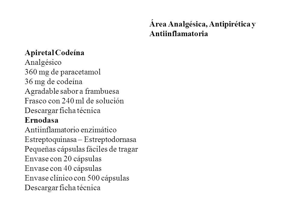 Área Analgésica, Antipirética y