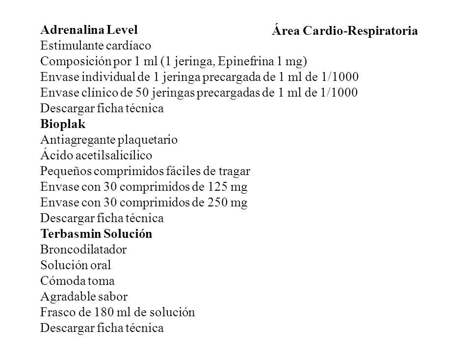 Adrenalina Level Estimulante cardíaco. Composición por 1 ml (1 jeringa, Epinefrina 1 mg)