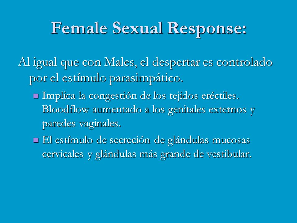 Female Sexual Response: