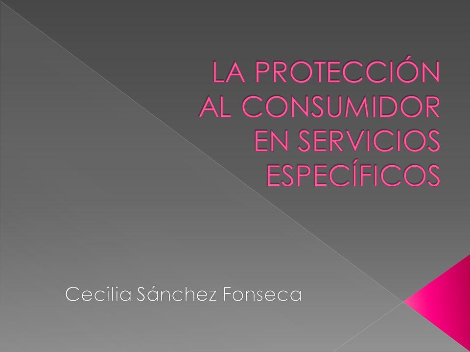 LA PROTECCIÓN AL CONSUMIDOR EN SERVICIOS ESPECÍFICOS