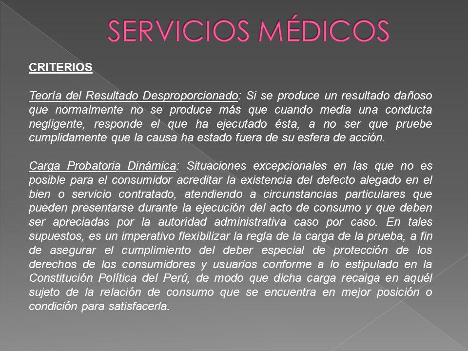 SERVICIOS MÉDICOS CRITERIOS