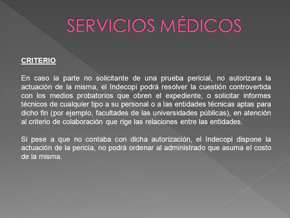 SERVICIOS MÉDICOS CRITERIO