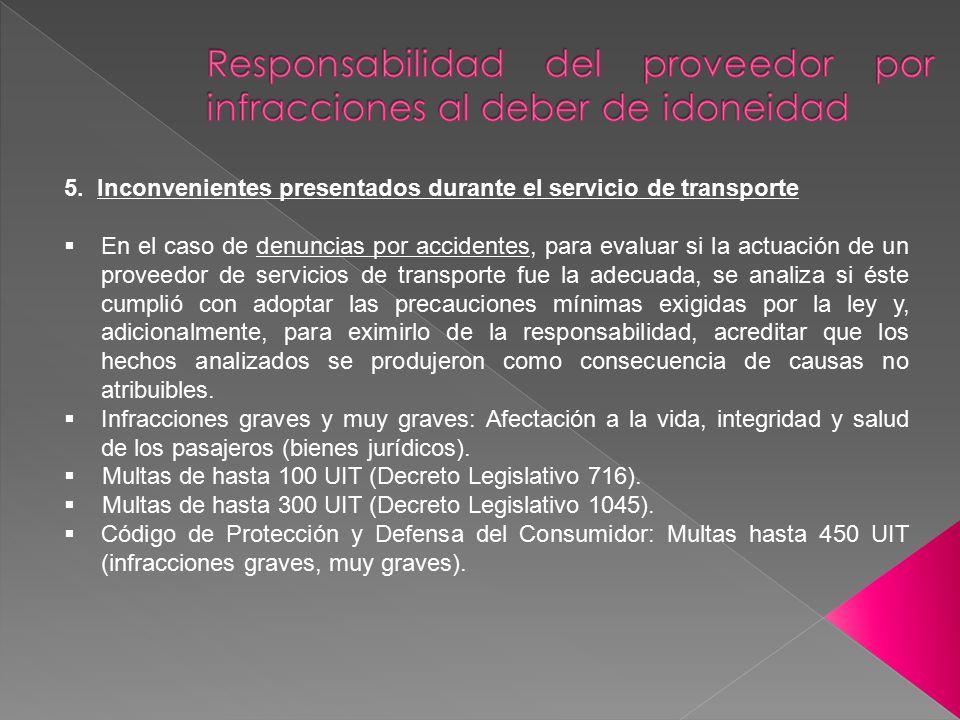 Responsabilidad del proveedor por infracciones al deber de idoneidad