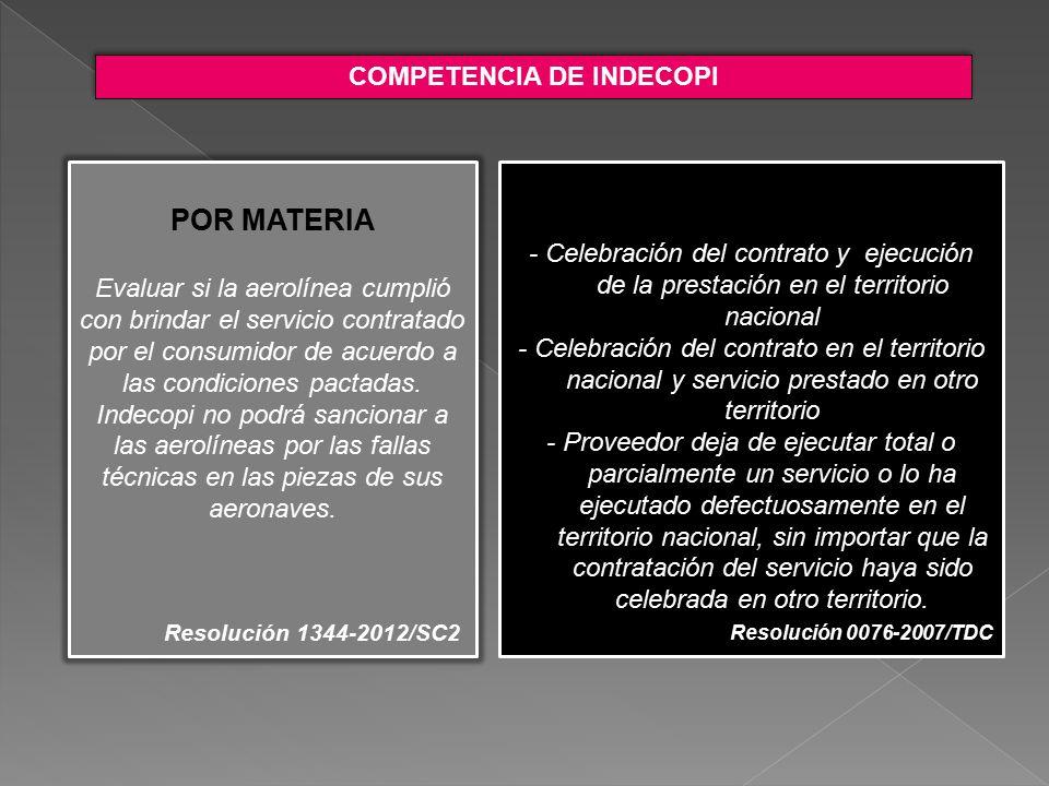 COMPETENCIA DE INDECOPI
