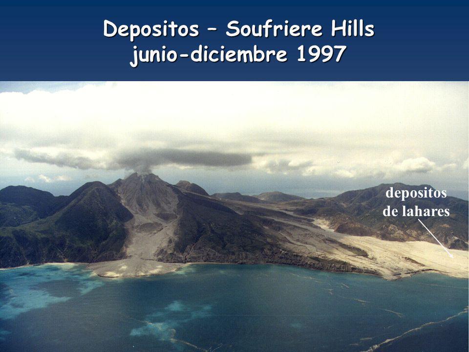 Depositos – Soufriere Hills junio-diciembre 1997