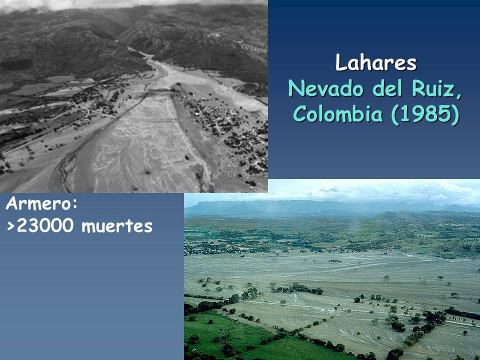 Lahares Nevado del Ruiz, Colombia (1985)