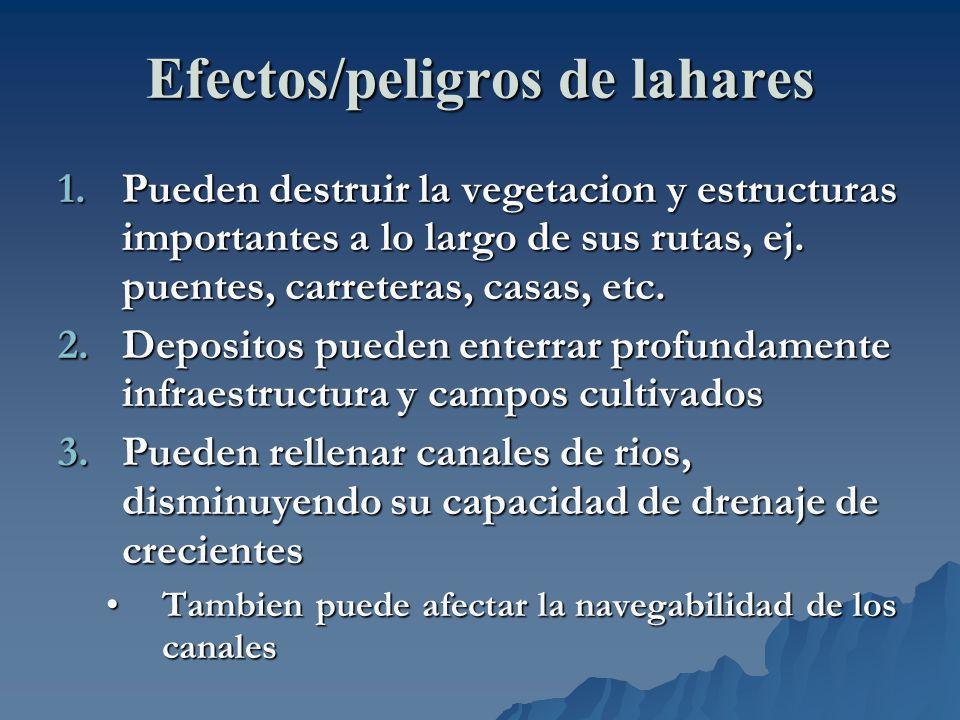 Efectos/peligros de lahares