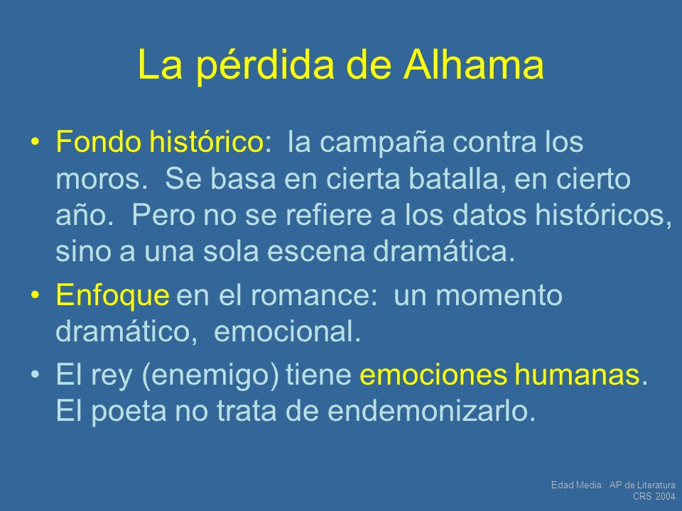 La pérdida de Alhama