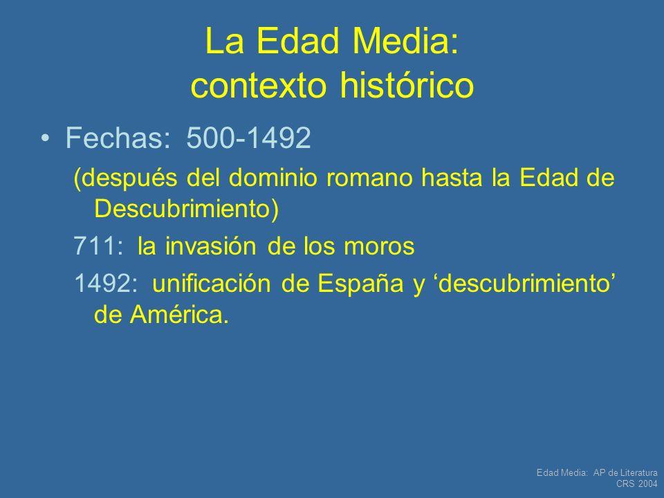 La Edad Media: contexto histórico
