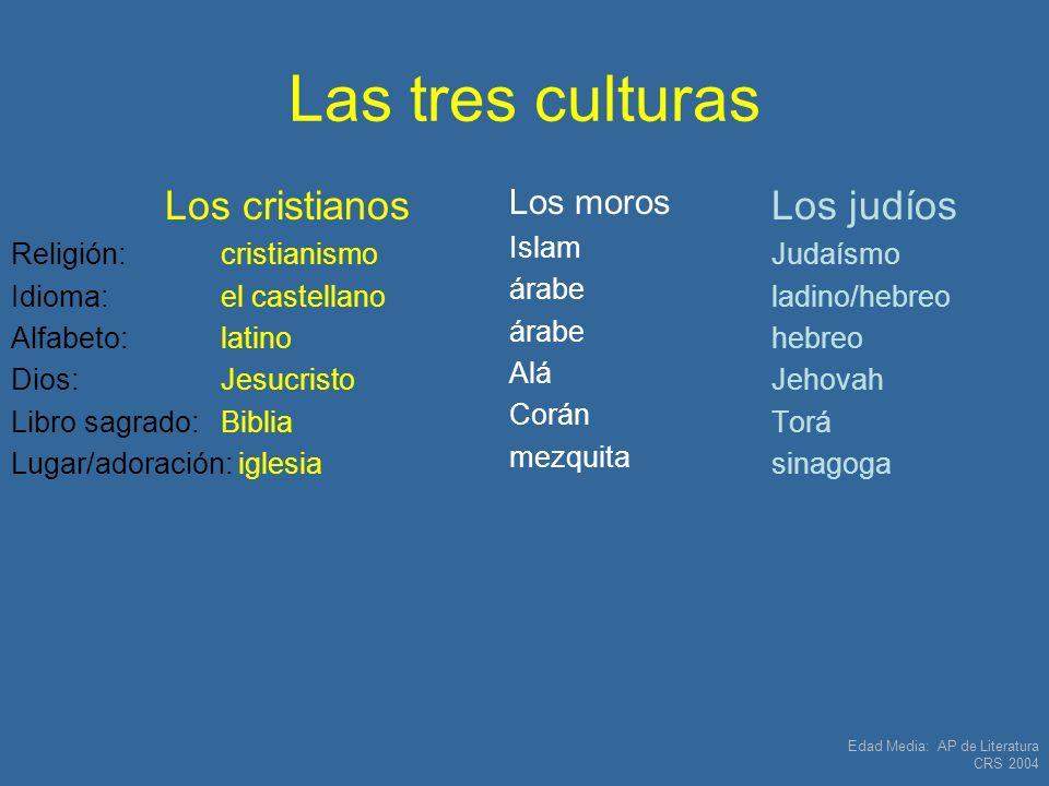 Las tres culturas Los cristianos Los judíos Los moros