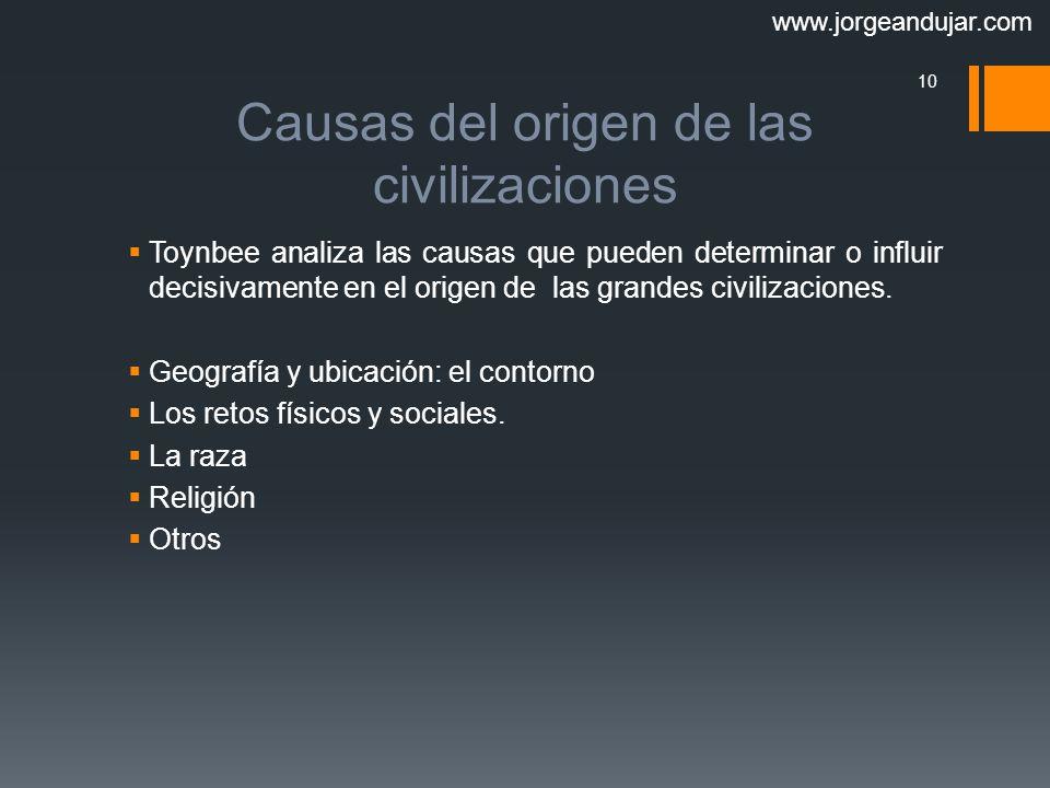 Causas del origen de las civilizaciones