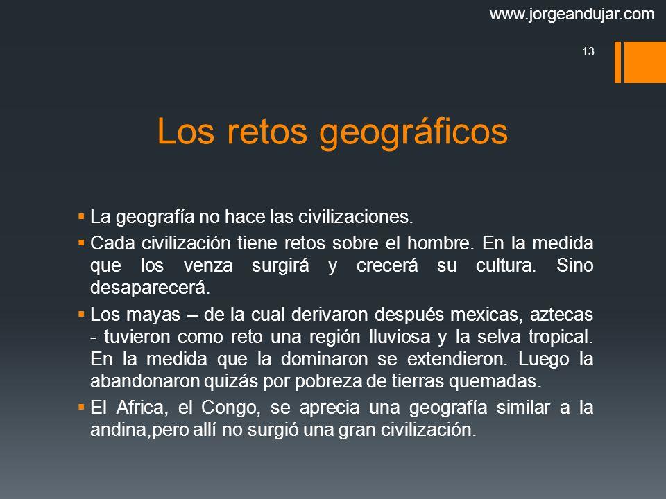 Los retos geográficos La geografía no hace las civilizaciones.