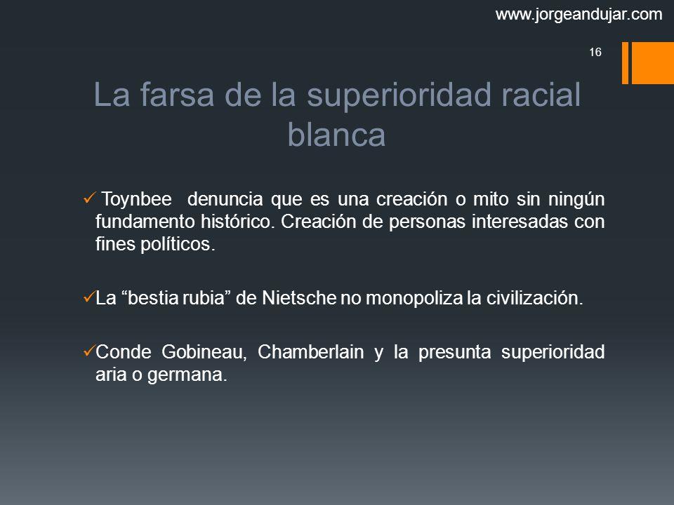 La farsa de la superioridad racial blanca