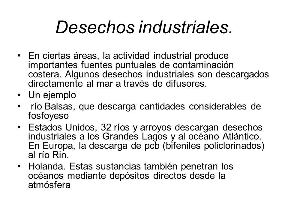 Desechos industriales.