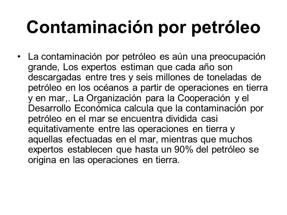 Contaminación por petróleo