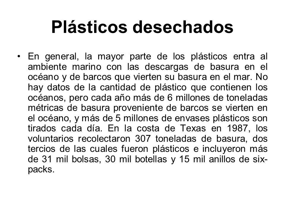 Plásticos desechados